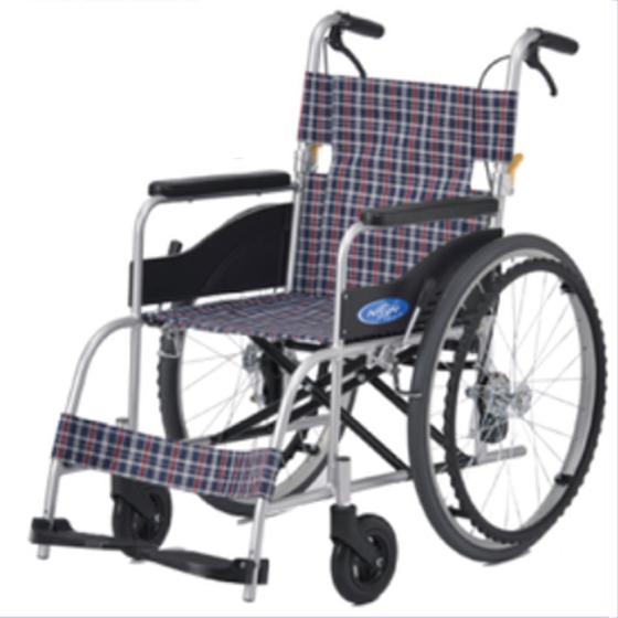 送料無料 日進医療器 自走用 車椅子 NEO-1 G-Guard-2パッケージ | 車いす 車イス くるまいす 自動安全ブレーキ 背折れ 折り畳み 折りたたみ エアタイヤ 介助ブレーキ付き バンド式ブレーキ アルミフレーム 転倒防止