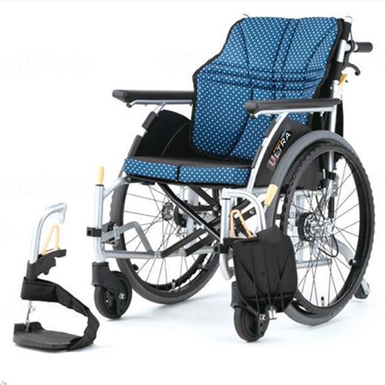 送料無料 日進医療器 自走用 車椅子 ウルトラシリーズ NA-U6 6輪タイプ | 家屋内専用 車いす 車イス くるまいす 背折れ 折り畳み 折りたたみ エアタイヤ 介助ブレーキ付き ドラム式ブレーキ アルミフレーム