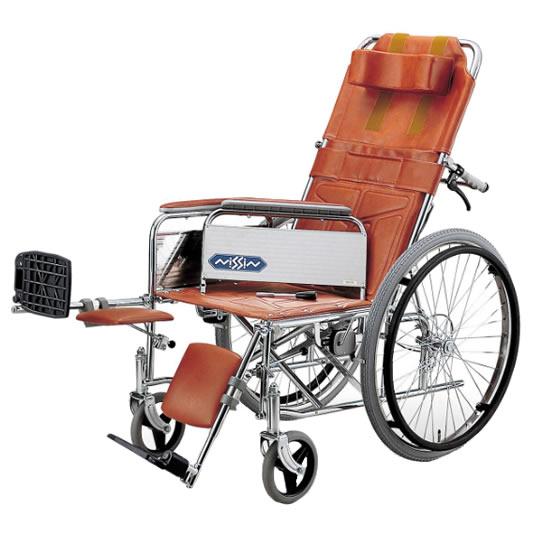 送料無料 フルリクライニング スチール製 エレベーティング アームサポート着脱式 車椅子 日進医療器 nissin ND-15 自走用 車イス 車いす くるまいす 施設 病院 背もたれ 楽な姿勢 角度を変える