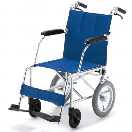 スーパースリム コンパクト 軽量 車椅子 折りたたみ エアタイヤ NAH-209 介助用 送料無料 日進医療器 nissin 12インチ 車イス 車いす くるまいす 撥水 抗菌 折り畳み 収納 青 ピンク