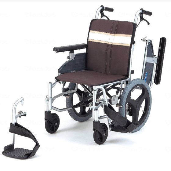 多機能 使いやすい車椅子 折りたたみ エアタイヤ スイングアウト 肘跳ね上げ モジュラー NA-3DX 介助用 送料無料 日進医療器 nissin 16インチ 車イス 車いす くるまいす 折り畳み
