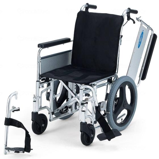 モジュラー 幅調整 車椅子 折りたたみ エアタイヤ スイングアウト 肘跳ね上げ EX-M3 介助用 送料無料 日進医療器 nissin 16インチ 車イス 車いす くるまいす 折り畳み ワイド 幅広 大きい