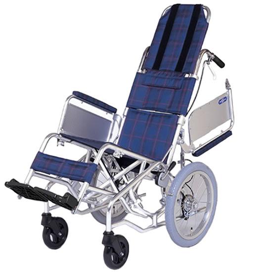 多機能 ティルト 車椅子 エアタイヤ 肘跳ね上げ 折りたたみ アルミ製 NAH-F1 介助用 送料無料 日進医療器 nissin 16インチ 車イス 車いす くるまいす 座位保持 折り畳み