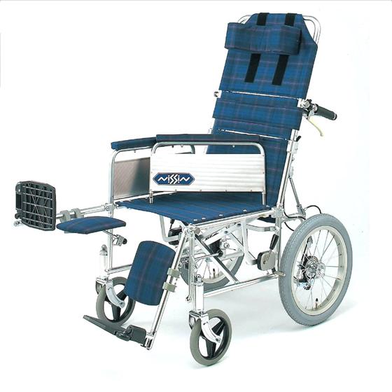 リクライニング 車椅子 エレベーティング アームサポート着脱 NA-118B 介助用 送料無料 日進医療 nissin 16インチ 車イス 車いす くるまいす 楽な姿勢 角度を変える 背もたれ