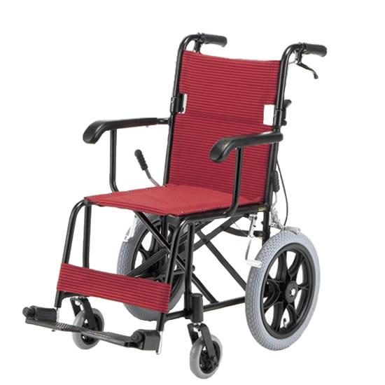 軽量 コンパクト 車椅子 TH-2SB 介助用 アルミ製 折りたたみ エアタイヤ 送料無料 日進医療器 nissin 14インチ 車イス 車いす くるまいす おしゃれ オシャレ 折り畳み