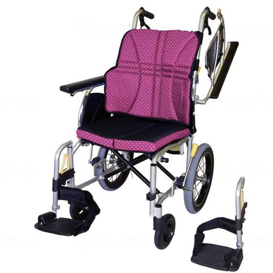 送料無料 日進医療器 介助用 車椅子 ウルトラシリーズ NAH-U2W | 車いす 車イス くるまいす 背折れ 折り畳み 折りたたみ エアタイヤ 介助ブレーキ付き ドラム式ブレーキ アルミフレーム JISマーク