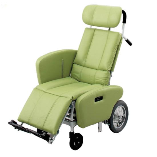 送料無料 ティルト リクライニング スチール製 座席昇降 サイドガード付き 車椅子 ビニールレザー 清潔 日進医療器 nissin NHR-15B 介助用 車イス 車いす くるまいす 足踏みブレーキ ヘッドサポート着脱 背もたれ 楽な姿勢 角度を変える