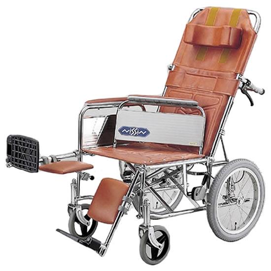 送料無料 フルリクライニング スチール製 エレベーティング アームサポート着脱式 車椅子 日進医療器 nissin NDH-15 介助用 車イス 車いす くるまいす 施設 病院 背もたれ 楽な姿勢 角度を変える