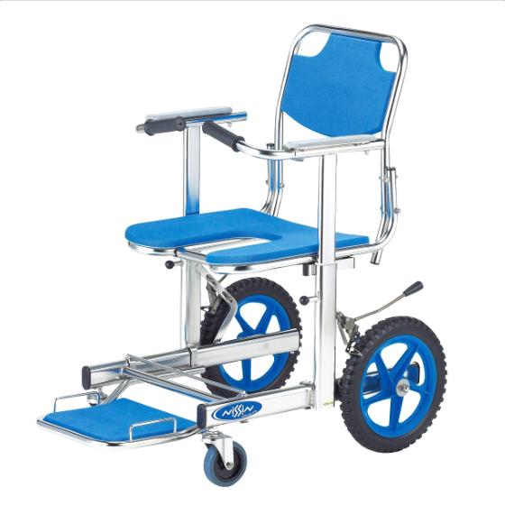 日進医療器 送料無料 ステンレス シャワーチェア 介助式 NSW-10 前座高50cm お風呂 シャワー 入浴 浴室 車椅子 車いす 車イス くるまいす NISSIN トイレチェア