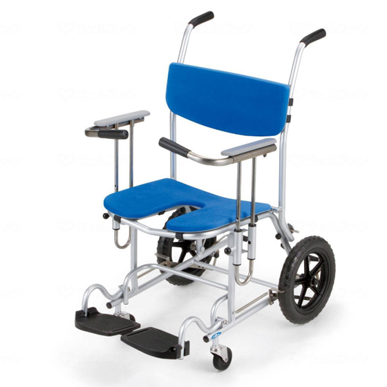車椅子介助式ステンレスシャワーキャリー[日進医療器]座王 NSW-13車イス/車いす/車椅子/送料無料