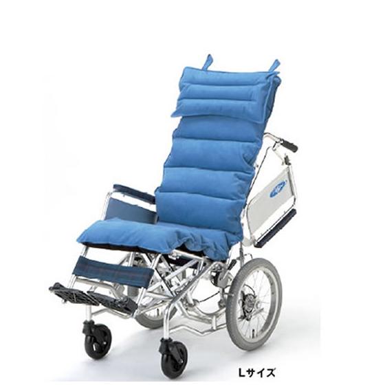 車椅子用クッション[日進医療器]ロングクッションLサイズ(枕つき)/送料無料