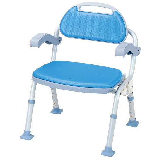 マキテック SOFTEK(ソフテック) 肘掛け・背付タイプ 折りたたみ シャワーベンチ SBF-10 入浴 椅子 いす シャワーチェア お風呂 移乗 介護用品 介護 福祉 送料無料 ソフトクッション バスグッズ