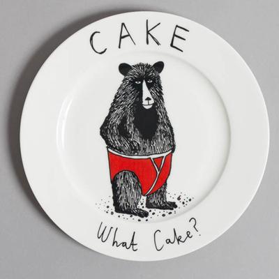 jimbobart Cake what cake? (パンツクマ) サイドプレート