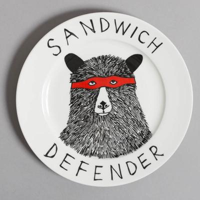 jimbobart サンドイッチディフェンダー (赤メガネクマ) サイドプレート