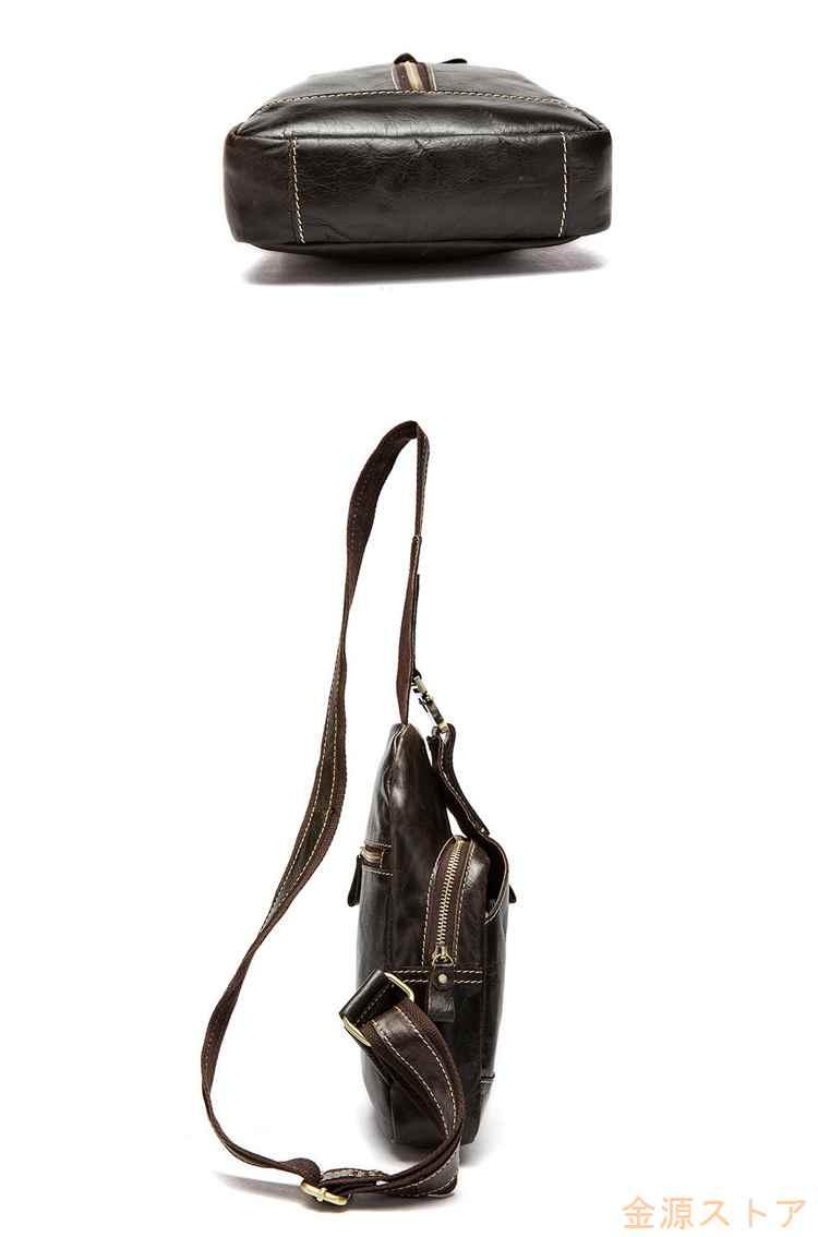 ボディバッグ ウエストバッグ 本革 メンズ レディース ヒップバッグ レザー 牛革 2WAY ワンショルダーバッグ カジュアル 鞄 レディース 男女兼用 sssqMVpSUz