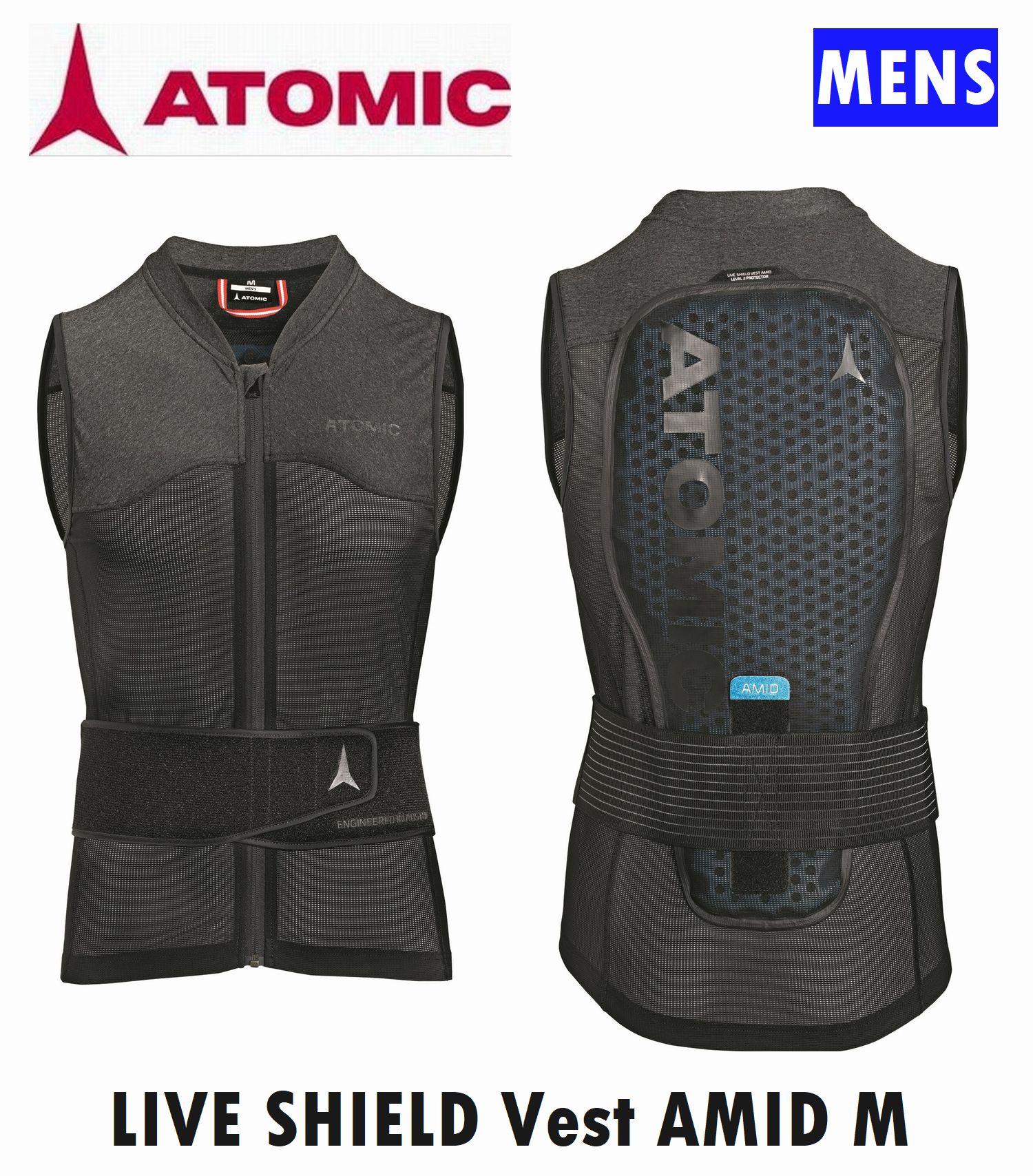 2021 送料無料新品 アトミック アミッドプロテクター メンズ 男性用 ATOMIC LIVE SHIELD MEN AMID 安心の定価販売 脊髄プロテク アミッド プロテクター Vest ライブシールドベスト ベスト