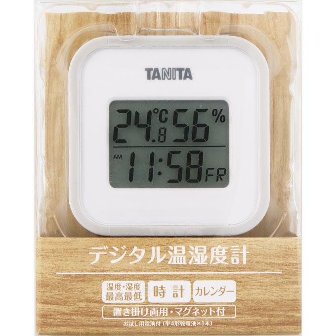 温度 格安SALEスタート 湿度 海外輸入 最高最低 時計 カレンダー グレー デジタル温湿度計 1個 TT-558-GY ウェルパーク