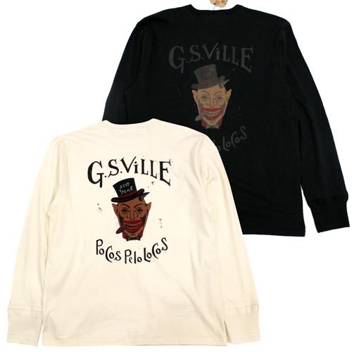 割り引き ギャングスタービル glad hand GANGSTERVILLE GSV-21-aw-19 21aw19 デビル ポケット付ヘンリーネック 完売 メンズ 長袖 Tシャツ
