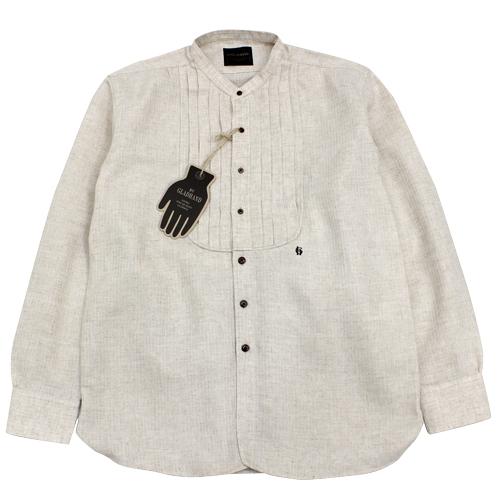 グラッドハンド バイグラッドハンド BY GLAD HAND 特価 送料無料 激安 お買い得 キ゛フト 長袖シャツ バンドカラー L S DINNER SHIRTS ナチュラル色 日本製 シャツ