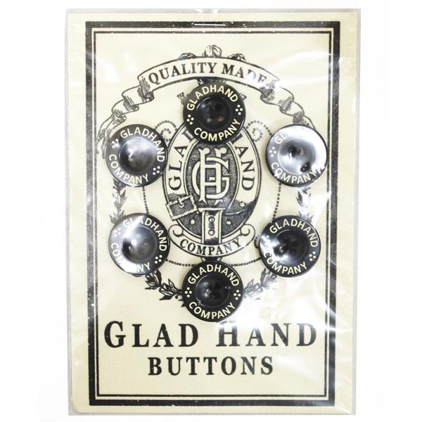 グラッドハンド GLAD HAND ボタンセット 直径13mm 8個入り 黒 ロゴ入り ※アウトレット品 !超美品再入荷品質至上!
