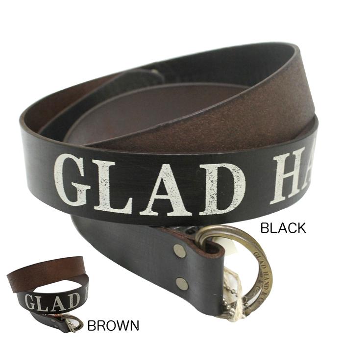 GLAD HAND ベルト 革 ダブルリングベルト レザー LETTER