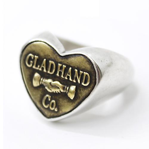GLAD HAND リング 925シルバー ボタンリング ハート【スモール】BUTTOM RING
