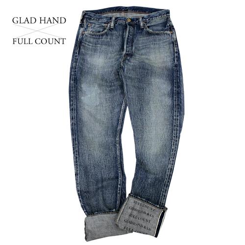 glad 超歓迎された hand FULL COUNT コラボ ジーンズ ow ワンウォッシュ 1111 専門店 スリムストレート straight slim