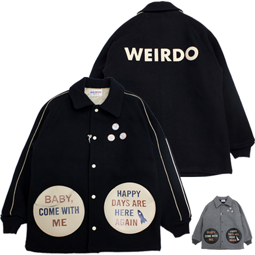 グラッドハンド weirdo 【wrd-19-aw-04】wrd19aw04 ジャケット ウール ピンバッジ COMICAL PIMBACK JACKET
