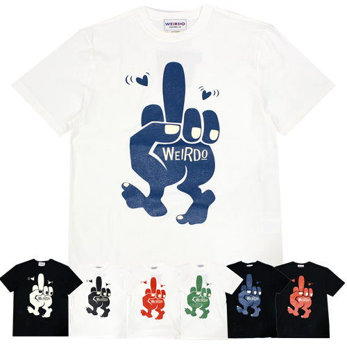 ウィアード glad hand weirdo トレンド Tシャツ 半袖 20SS31 WEIRDO 絶品 クルーネックTシャツ FINK ホットロッド 20-SS-31