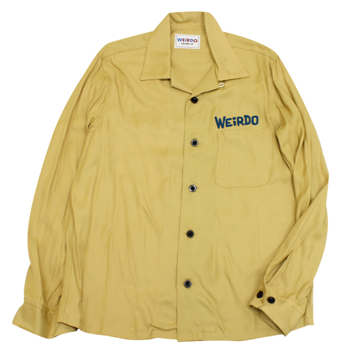 GLAD HAND weirdo 【wrd-18-aw-21】wrd18aw21 長袖シャツ MONSTERS - L-S SHIRTS モンスター 刺しゅう