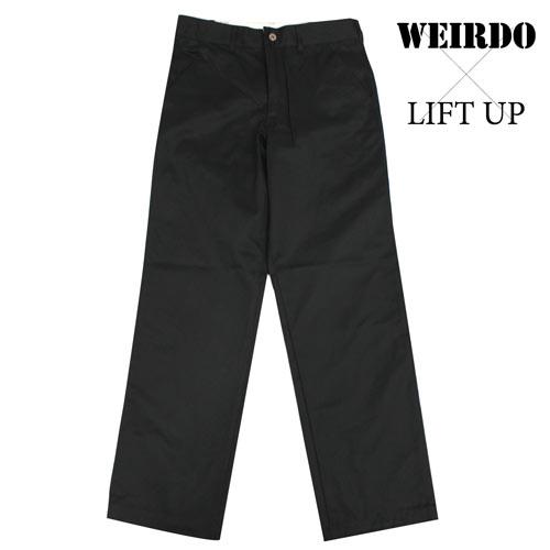 glad hand WEIRDO × LIFT UP W&L【リフトアップ】ワークパンツ チノパン 黒色 メンズ 17AW13