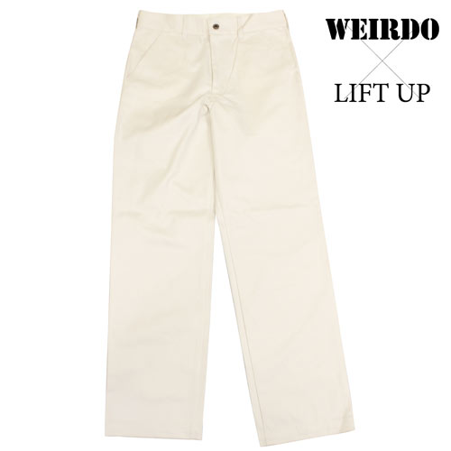 glad hand WEIRDO X LIFT UP W&L work pants chino pants ivory men 17AW13