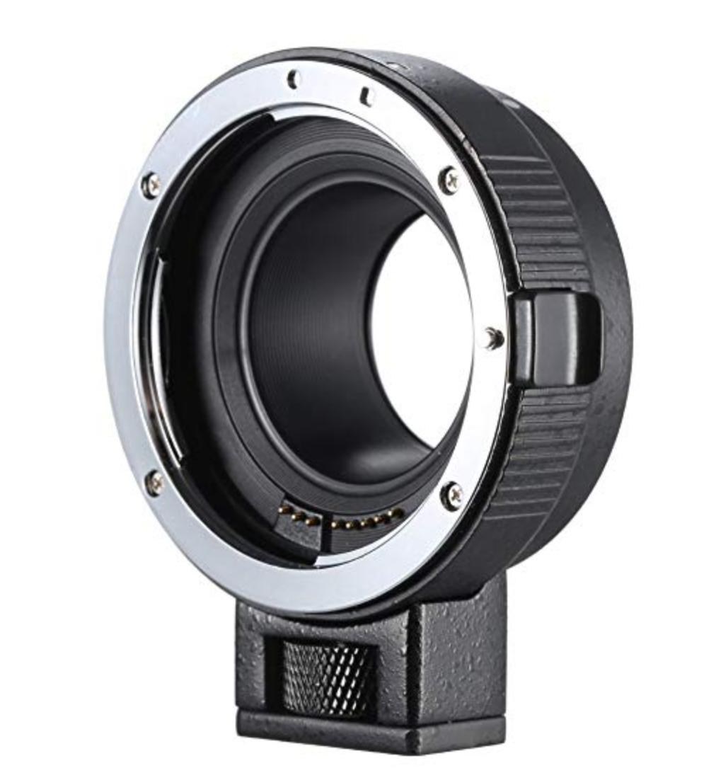 Andoer EF-EOSM レンズマウントアダプター サポート自動露出・オートフォーカス・自動絞り for Canon EF/EF-S シリーズ レンズ → EOS M EF-M M2 M3 M10 カメラ COMMLITE コムライト