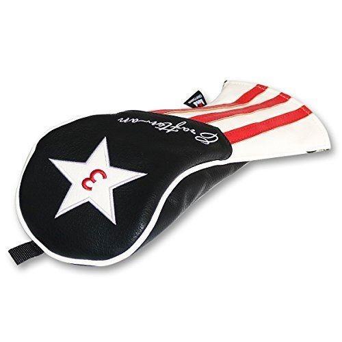 CRAFTSMAN(クラフトマン) ゴルフヘッドカバー フェアウェイウッド対応 ウッドカバー クラブカバー 合成皮革(PU) 三片式設計 単品販売 3番・5番