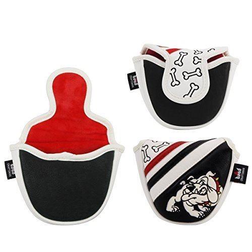 CRAFTSMAN(クラフトマン) ゴルフクラブヘッドカバー 合成レザー製 ブルドッグシリーズ マレットパターカバー マグネット開閉