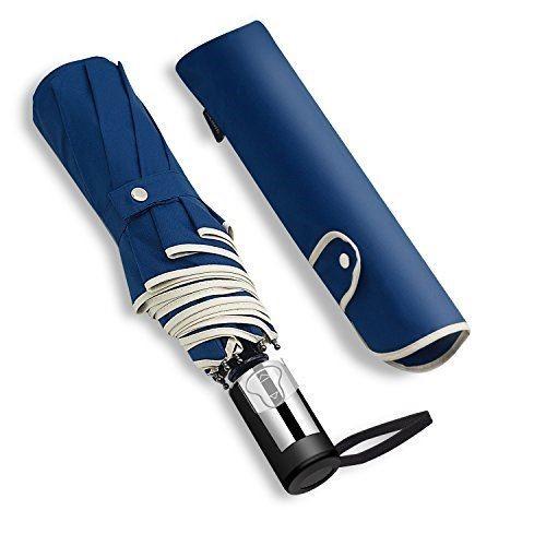 KIZAWA 折りたたみ傘 ワンタッチ自動開閉 おりたたみ傘 メンズ 安全式 210T高密度 撥水加工 高強度グラスファイバー 軽量 365g 大きい 116cm 8本骨 耐強風 晴雨兼用 収納ポーチ付 ネイビー