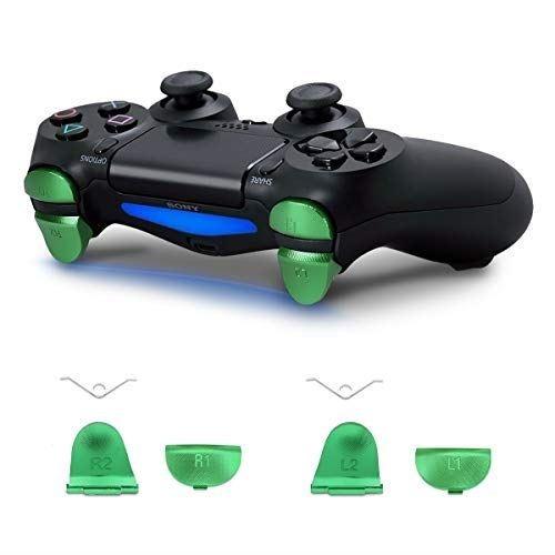 kwmobile Playstation 4 Pro / PS4 Slim Controller (2. Gen) 用 交換ボタン - アルミ製 置換ボタン セット トリガーボタン アルミ
