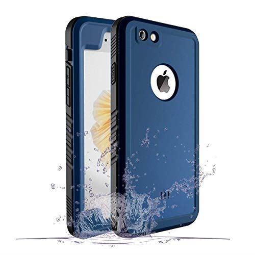 SPORTLINK iPhone6 防水ケース iPhone6S 防水ケース アイフォン6 /6S 対応 IP68規格 完全防水 耐衝撃 防塵 防雪 保護ケース 指紋認証対応 軽量 水泳 お風呂 防水ケース (ブルー)