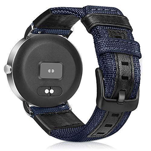 時計バンド 20mm プレミアムナイロンキャンバスファブリック交換用ウォッチバンド幅(20mmまたは22mm) - ウォッチストラップ (20mm, ブルー)