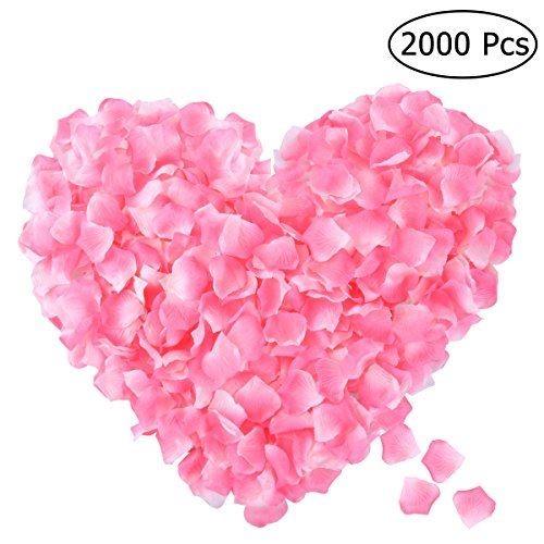 ETEREAUTY 花びら フラワーシャワー ローゼの造花 2000枚セット 結婚式 二次会 パーティーの演出に最適(ピンク)