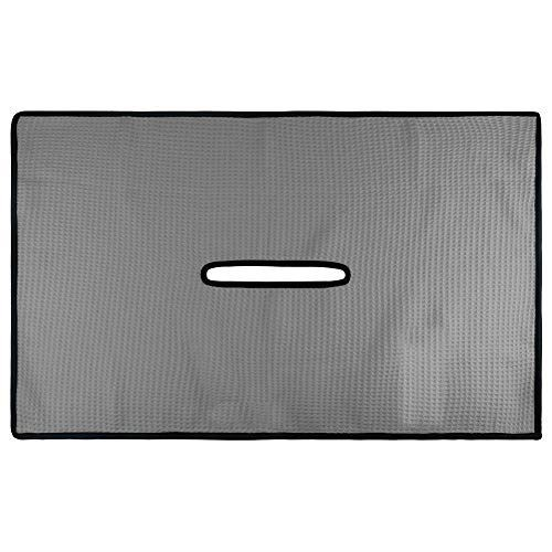 CRAFTSMAN(クラフトマン) ゴルフタオル スポーツタオル クラブカバー 汗を拭う クラブやボール拭き 中間に穴付き 携帯便利 3スタイル(ホワイト/グレー/アメリカイーグル)