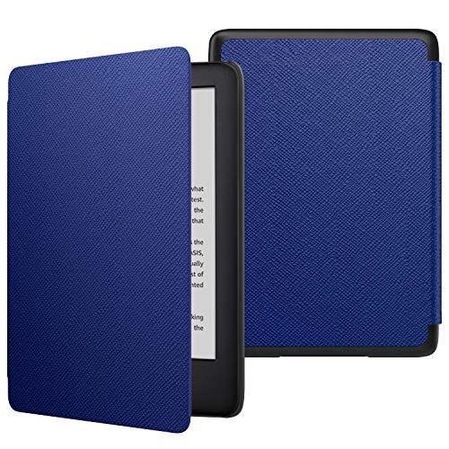 ATiC NEW Kindle Newモデル ケース Kindle 第10世代 2019用 軽量 薄型 保護カバー 耐久性 耐衝撃 落下防止 オートスリープ機能付き INDIGO