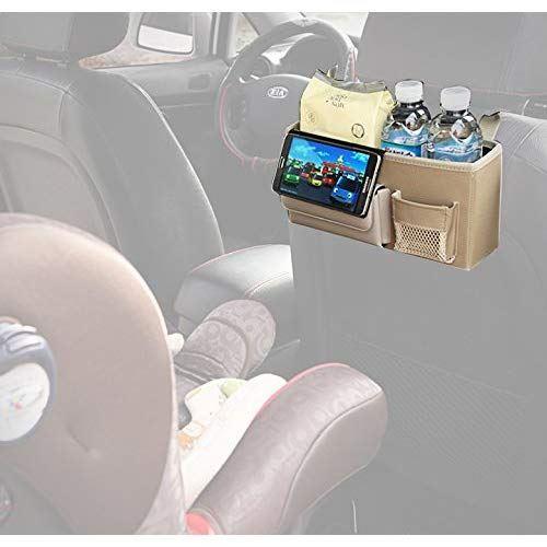 KMMOTORS スマートに便利に使うドライブ必須用品、ワンソーポケット (ベージュ)
