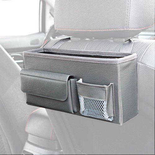 KMMOTORS スマートに便利に使うドライブ必須用品、ワンソーポケット (グレー)