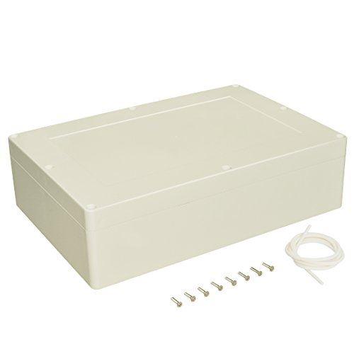 LeMotech 防水 防塵 IP65 ABSプラスチック ジャンクションボックス ユニバーサル 電気 プロジェクトエンクロージャケース 接続箱 グレー 380 x 260 x 105 mm