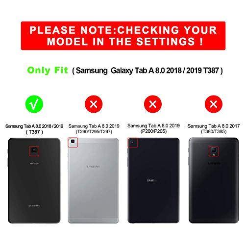 Zenrich Galaxy Tab A 8 0 2018ケース S Pencil 収納 可能360度 回転 スタンド スタンドtrdQhs