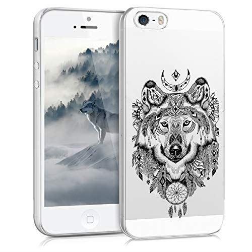 kwmobile Apple iPhone SE 1.Gen 2016 5 5S 保護ケース 黒色 用 - ☆国内最安値に挑戦☆ ケース 透明 [並行輸入品] スマホカバー 携帯