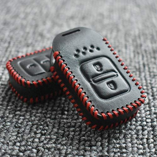 ontto Honda スマートキー ケース キーカバー キーホルダー キーケース フィット リモコン用 汚れ、傷防止 落ちにく オシャレ 本革 ホンダ ヴェゼル ステップワゴン スパーダ スマピタ ハード 等に適用oQdreWCxB