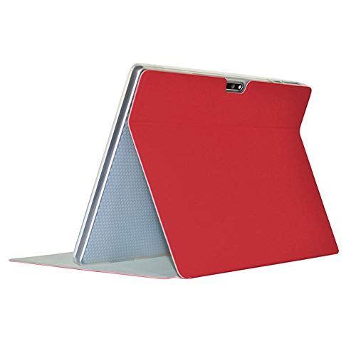 Zshion アウトレット☆送料無料 Teclast 割引も実施中 M30 タブレット ケース スタンド機能付き 保護ケース 超軽量 高級スマートカバー ふたつ折 薄型 赤 全面保護型