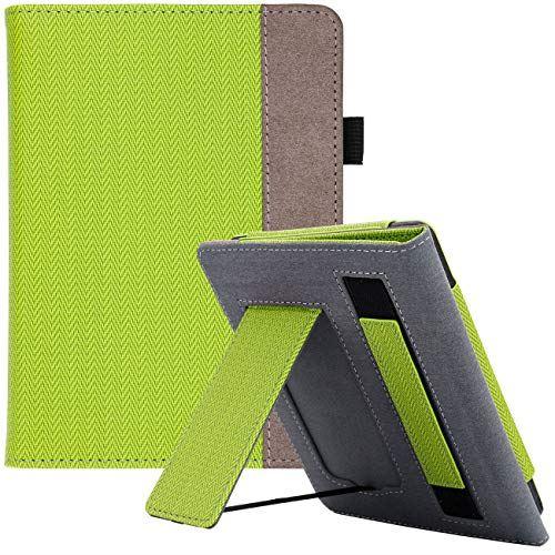 WALNEW AMAZON Kindle Paperwhite第十世代カバー ケース 2018 Kindle Paperwhite Newモデル(第10世代)に適応 スタンド機能 ベルト付き マグネット機能搭載カバー アップルグリーン
